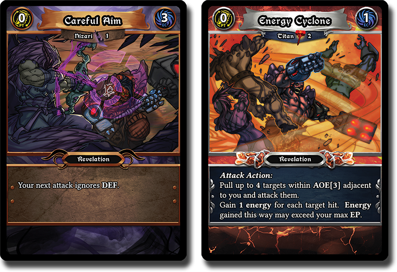 Two of the many cards in Incarnate