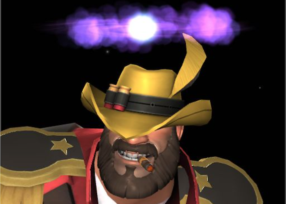 Team Fortress 2: Alter ego of Matthew wearing a gold cowboy hat